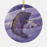 Polar Bear Angel Christmas Ornament