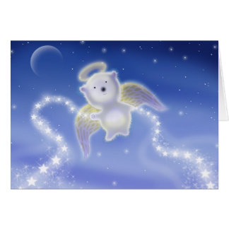 Polar Bear Angel Holiday Card