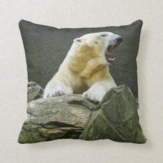 Polar Bear - Angry Throw Pillow