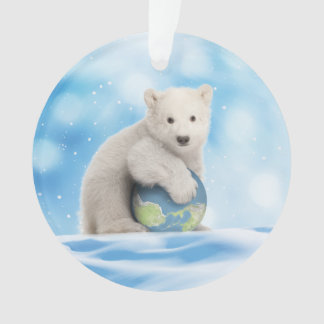 Polar Bear Arctic World Ornament