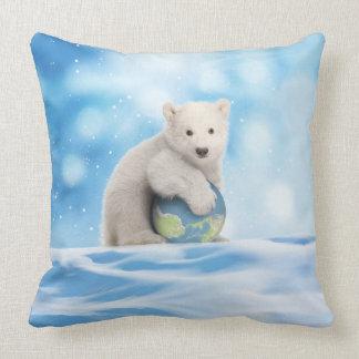 Polar Bear Arctic World Pillow