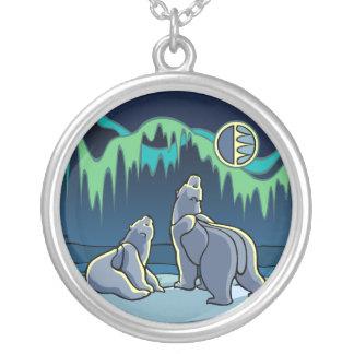Polar Bear Art Necklace Native Bear Art Jewelry