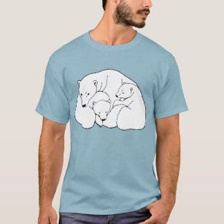Polar Bear Art T-shirt Plus Size Baby Bear Shirts