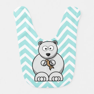 Polar bear baby bib