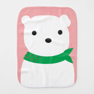 Polar Bear Baby Burp Cloth