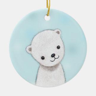 Polar Bear Baby Ornament Custom Personalized Decor