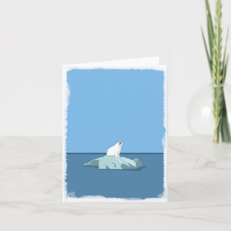 Polar Bear blank greeting card
