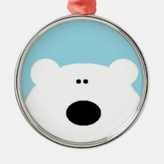 Polar Bear Blue Christmas Ornament