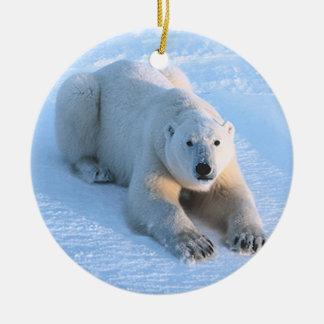 Polar Bear Blue Christmas Ornament
