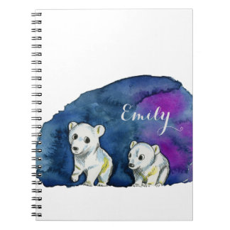 Polar Bear Brothers Watercolor Painting Notebooks