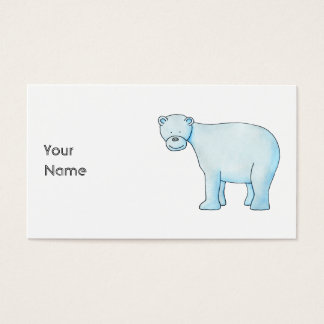 Polar Bear. Business Card