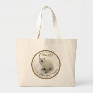 Polar Bear Carry-all Large Tote Bag
