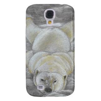 Polar Bear Chalk Drawing Galaxy S4 Case