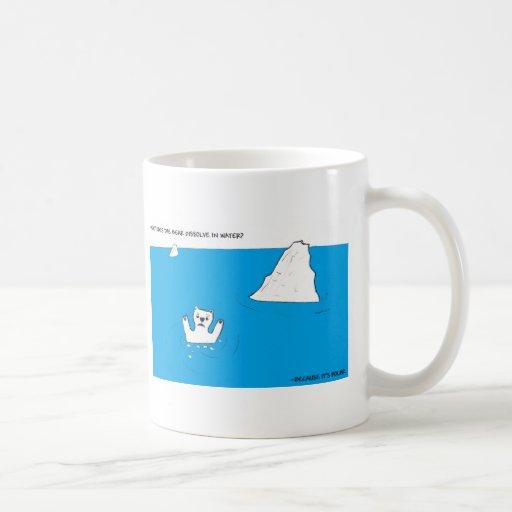 Polar bear chemistry joke mug