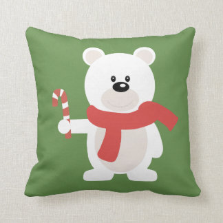 Polar Bear Christmas Cushion