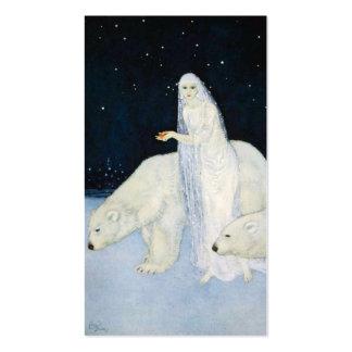 Polar Bear Christmas Gift Tags Cards Edmund Dulac Business Card