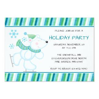 Polar Bear Christmas Holiday Party Invitations