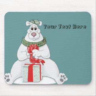 Polar Bear Christmas Mouse Pads