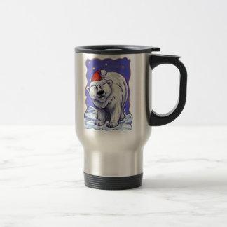 Polar Bear Christmas Stainless Steel Travel Mug