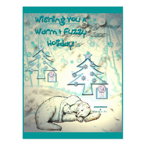 Polar Bear Christmas Postcard