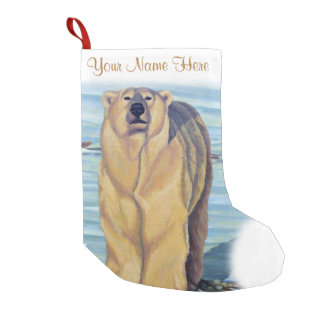 Polar Bear Christmas Stocking Custom Bear Stocking
