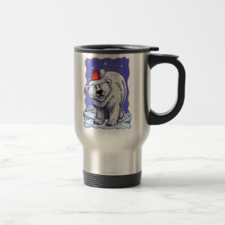 Polar Bear Christmas Travel Mug