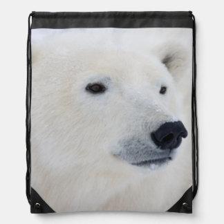 Polar Bear Churchill Drawstring Backpacks