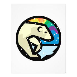 polar bear circle design personalized flyer