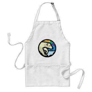 polar bear circle design standard apron