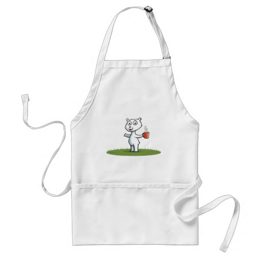 Polar Bear Coffee Apron