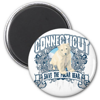 Polar Bear Connecticut Magnet
