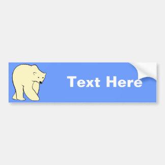 Polar Bear - Cream Color Car Bumper Sticker
