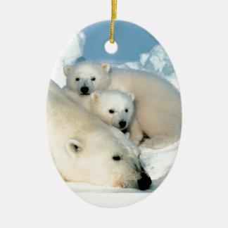 Polar bear cub 1 christmas ornament