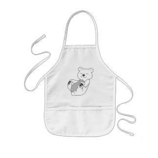 Polar Bear Cub Kids Apron