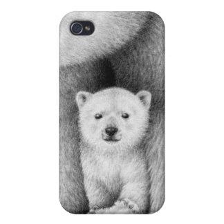 Polar Bear Cub iPhone 4 Covers