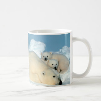 Polar Bear & Cubs by Steve Amstrup Coffee Mug