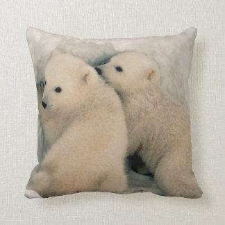 Polar Bear Cubs Cushion