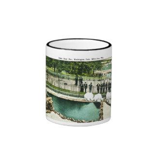 Polar Bear Den, Washington Park, Milwaukee, Wis. Ringer Mug