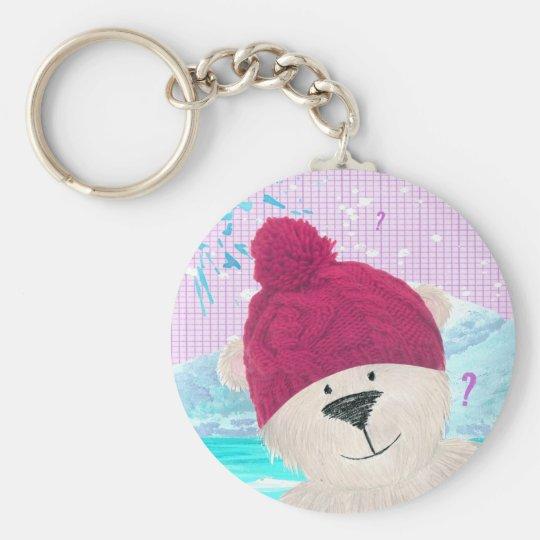 Polar bear Dude Basic Round Button Key Ring
