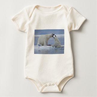Polar Bear Duel Baby Bodysuit