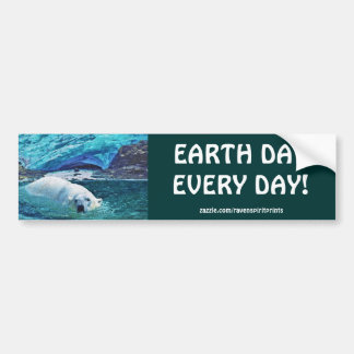 Polar Bear Earth Day Arctic Animal Bumper Stickers