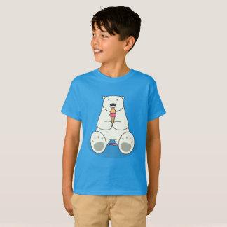 Polar Bear Eating Ice Cream Kids T-Shirt