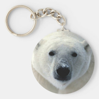 Polar Bear Face Key Ring