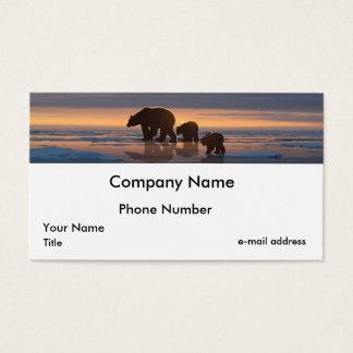 Polar Bear Family Business Card