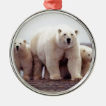 Polar Bear Family Christmas Tree Ornament