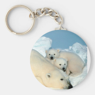 Polar Bear Family Key Ring