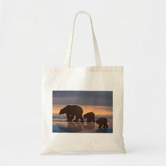 Polar Bear family Tote Bag