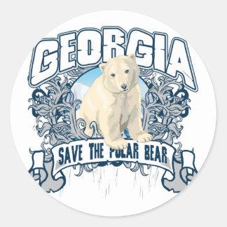 Polar Bear Georgia Classic Round Sticker