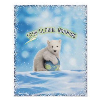 Polar Bear Global Warming Poster