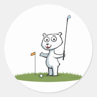 Polar Bear Golf Sticker
